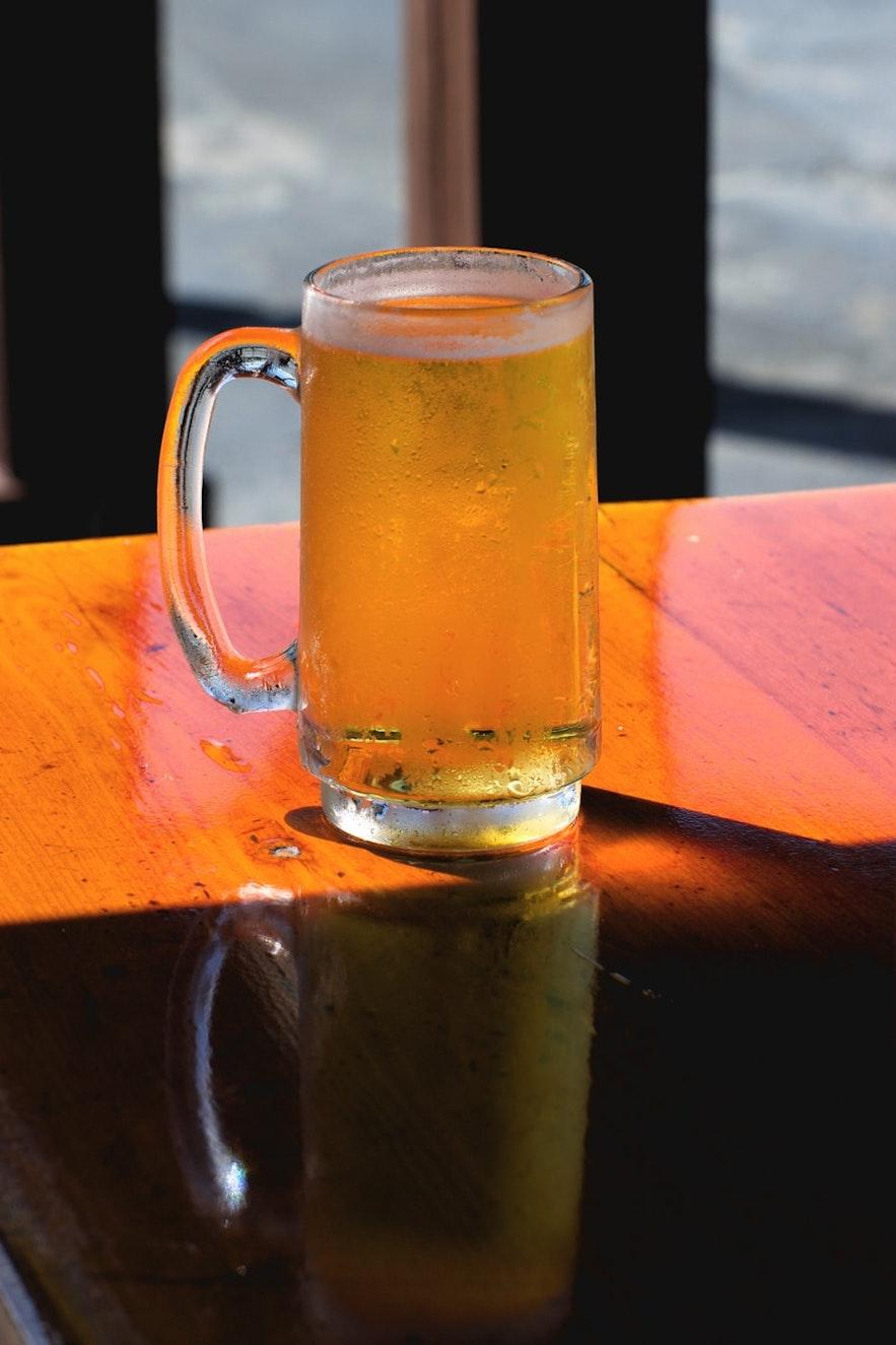Bryggjan Brugghús has a range of beers.