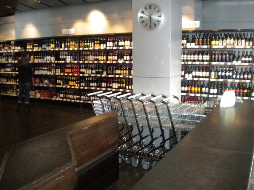 Vinbudin, the state run liquor store.