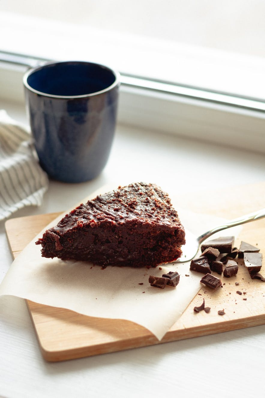 Vegan cake is a great choice at Garðurinn.