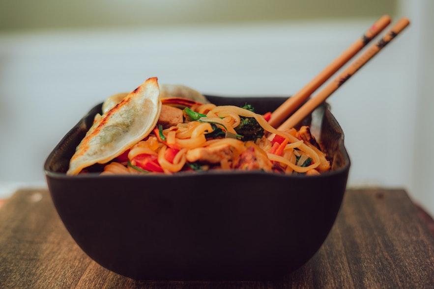 Nudluskalin has a range of vegan noodles.
