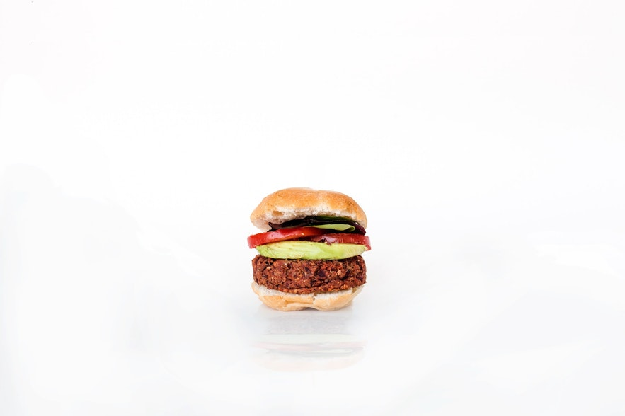 The all-vegan, all-delicious burger of Bike Cave.