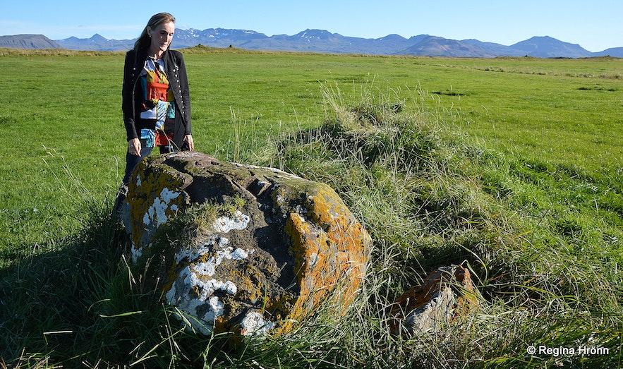 Regína by Þórssteinn rock at Þingvellir W-Iceland