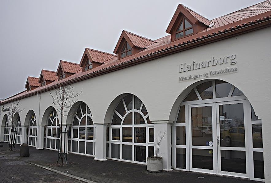Hafnarborg Public Art Gallery from the outside.