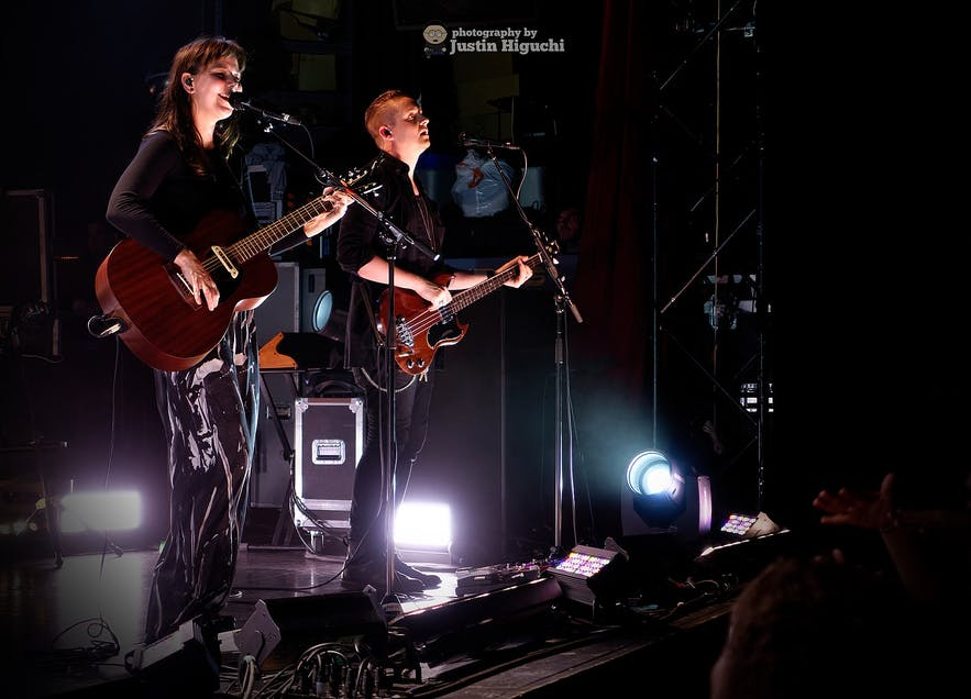 Of Monsters and Men perform in concert.
