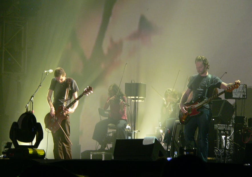 Sigur Ros performs in Denmark.