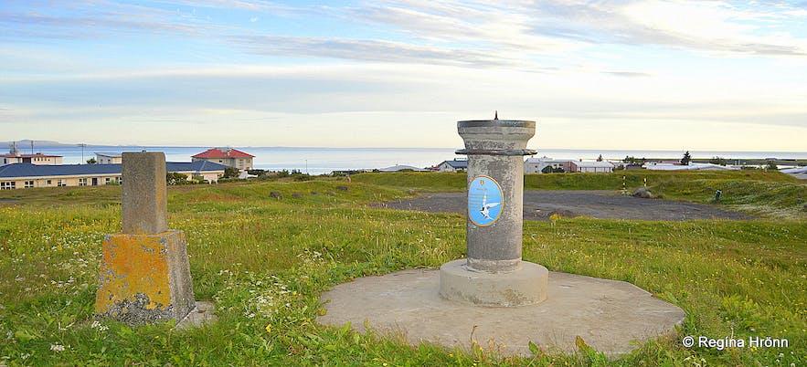 he first view-dial in Iceland on Valhúsahæð hill at Seltjarnarnes in the Great-Reykjavík area, erected in 1938