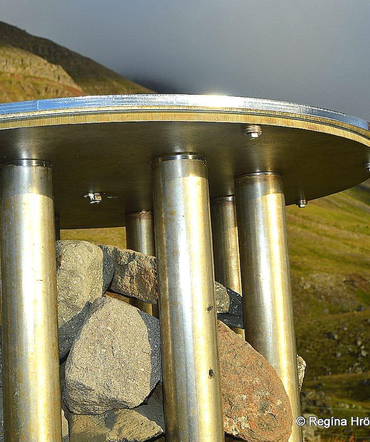 The view-dial at Óshólar Westfjords