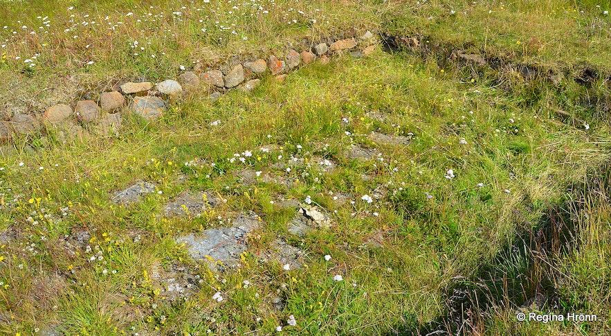 Very old church ruins at Neðri-Ás in Hjaltadalur valley