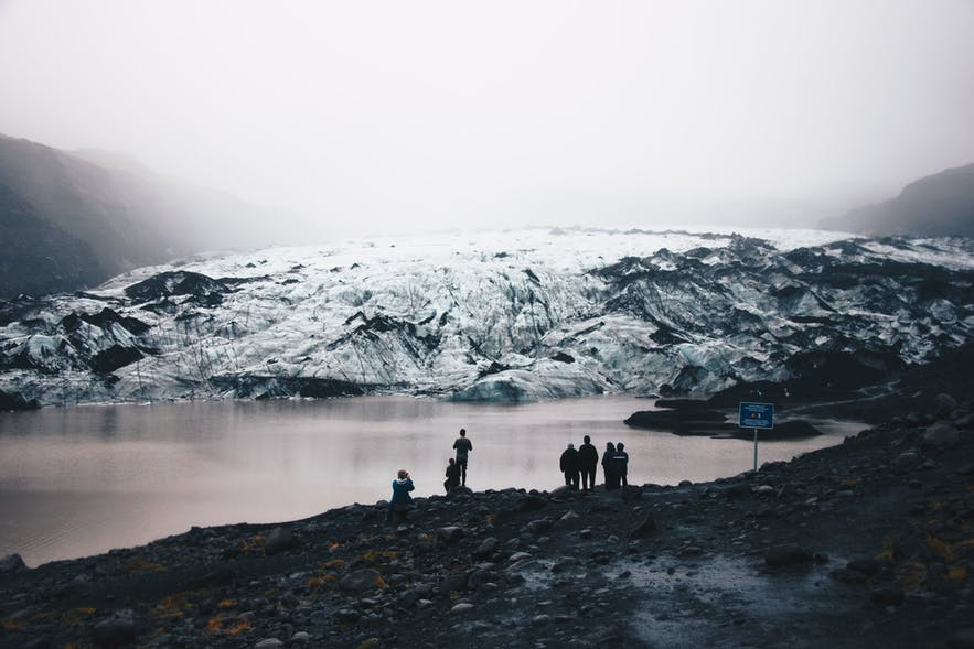 Myrdalsjokull on a misty day.