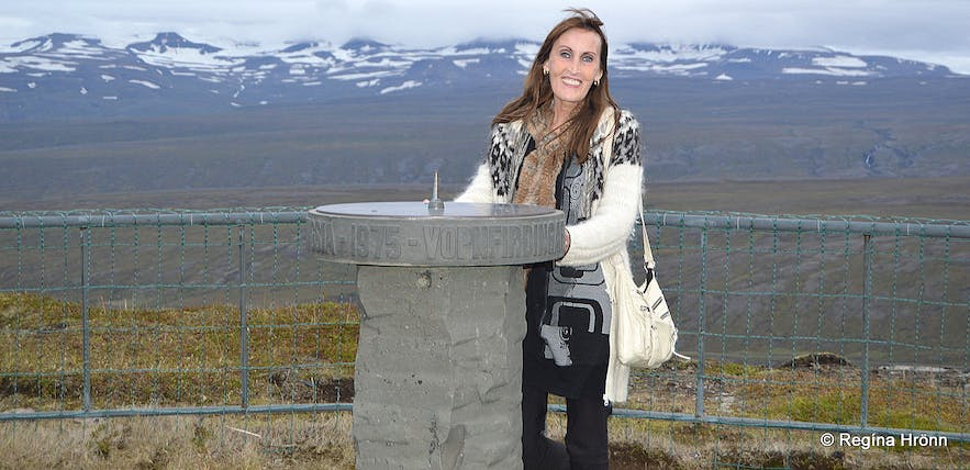 The view-dial on Bustarfell East-Iceland