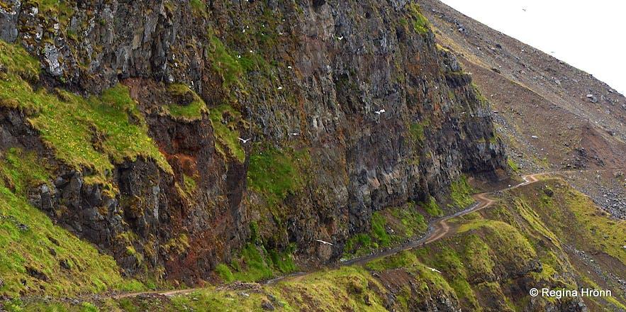 Kjaransbraut, the most dangerous road in the Westfjords of Iceland