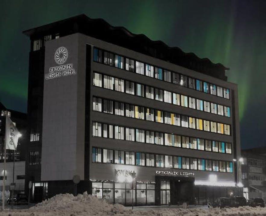 雷克雅未克灯光酒店(Reykjavik Lights)夜间景象