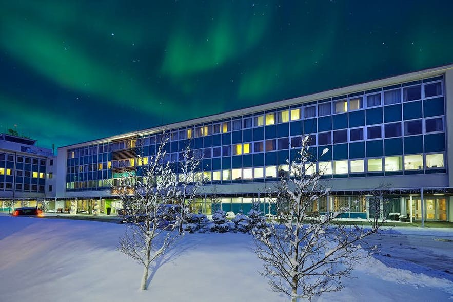 雷克雅未克纳图拉冰岛航空酒店(Icelandair Hotel Natura)夜间可观赏极光