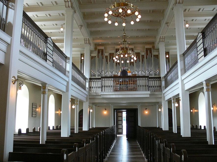 Domkirkjan Church in Reykjavik sits in the city centre