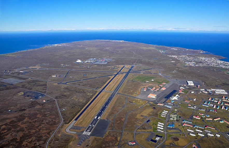 Keflavik as seen from above.