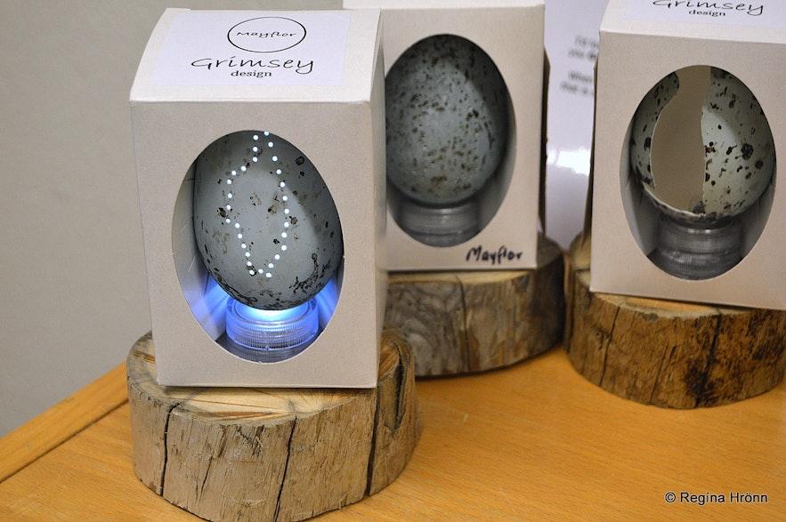 Eggs at Grímsey design