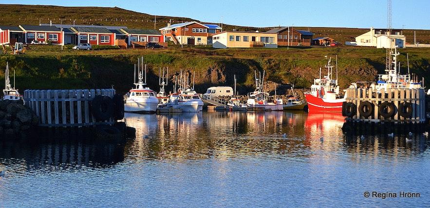 Grímsey island harbour