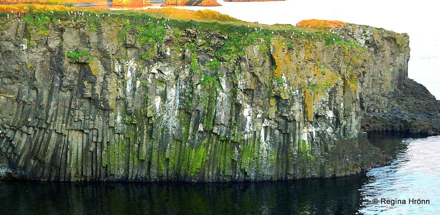 Basalt columns on Grímsey island