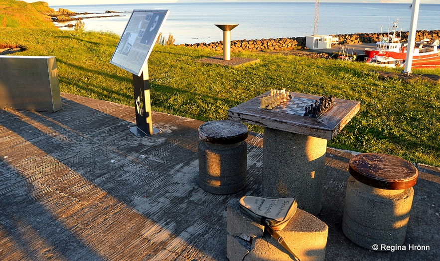 The outside chessboard at Grímsey