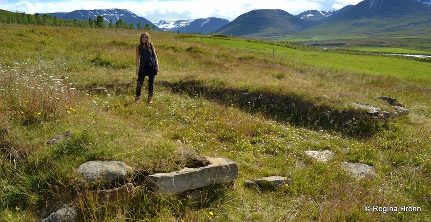Ruins of an ancient church in Hjaltadalur North-Iceland
