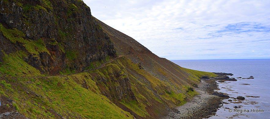 Kjaransbraut avenue Westfjords of Iceland