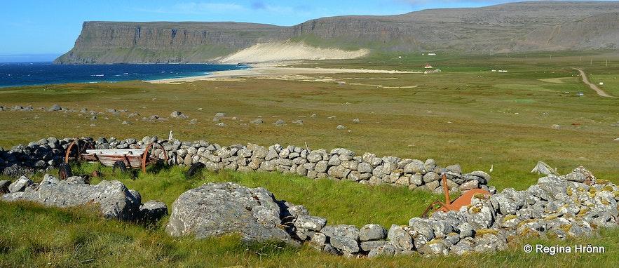 Kollsvík ruins Westfjords - an old sheepcote