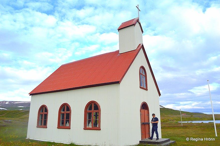 Unaðsdalskirkja church in the Westfjords