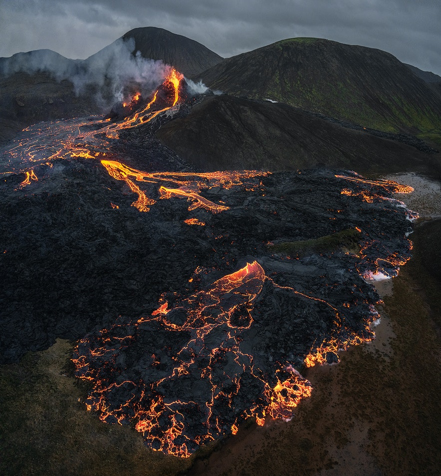 The land of Geldingadalur in Iceland looks more like Mordor than earth.