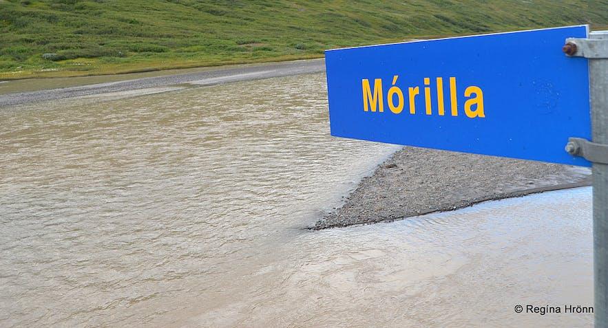 The glacial river Mórilla by Drangajökull glacier