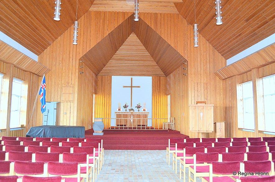 Hólmavíkurkirkja church in Hólmavík inside