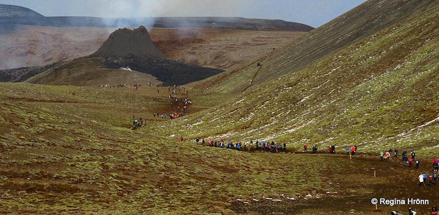 The Volcanic Eruption in Geldingadalr Valley on the Reykjanes Peninsula in SW-Iceland
