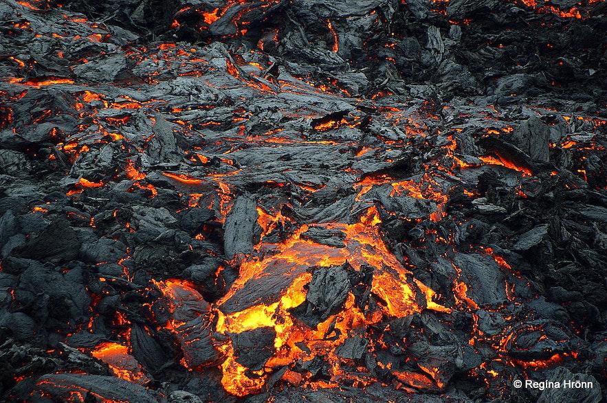 The volcanic eruption at Geldingadalir
