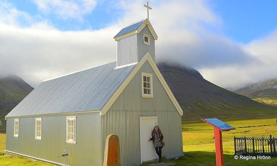 Selárdsalskirkja church in Selárdalur Westfjords