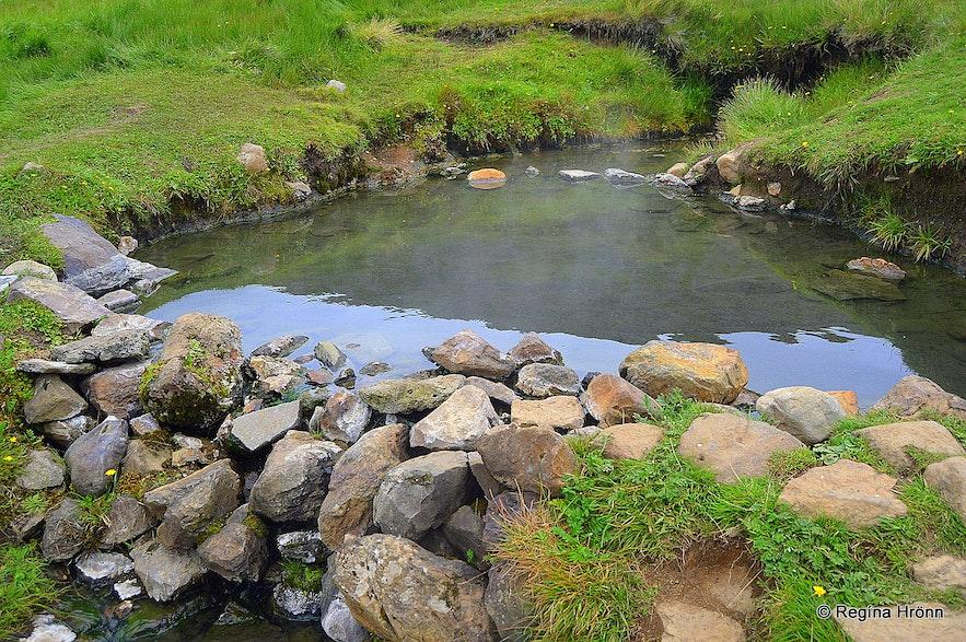 A warm pool in Reykjarfjörður Westfjords