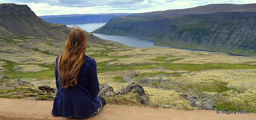 Admiring the view of the Arnarfjörður fjords