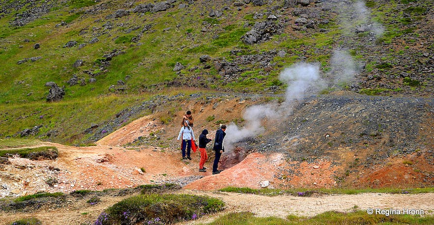 The hike to Reykjadalur South-Iceland