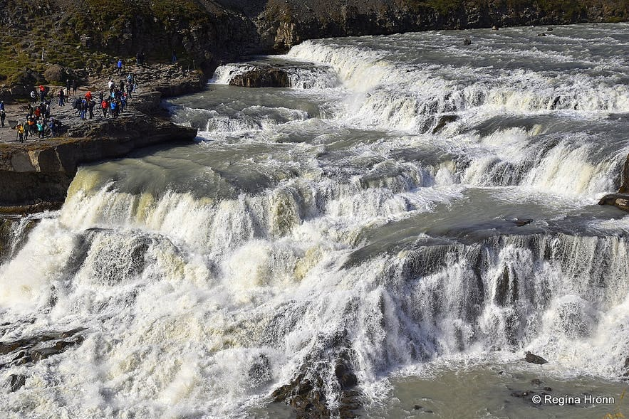 Photo of the other side of Gullfoss