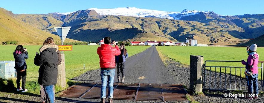 Þorvaldseyri farm and Eyjafjallajökull glacier
