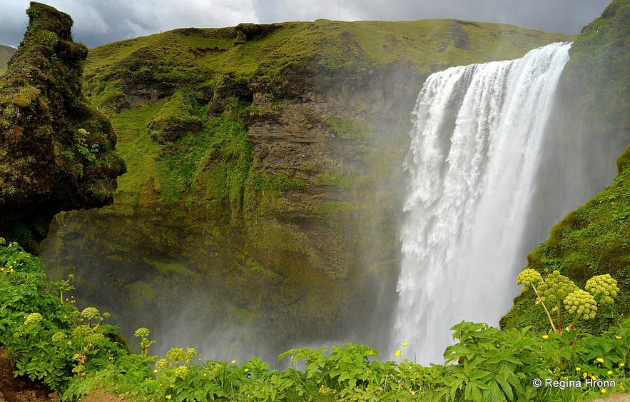 Skógafoss waterfall in South-Iceland