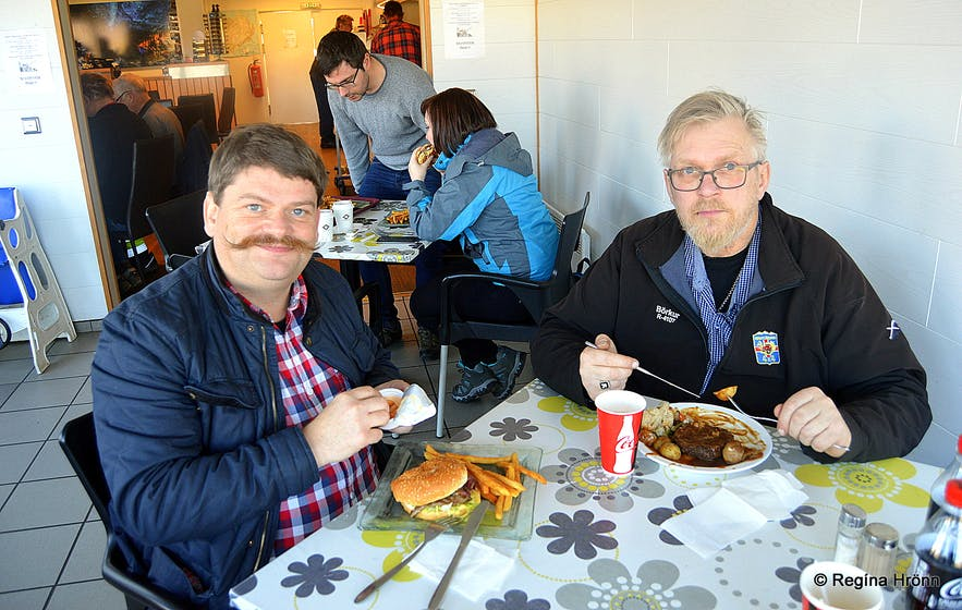 Lunch at Freysnes restaurant South-Iceland