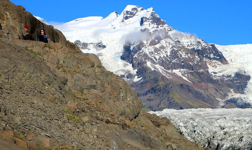 By Svínafellsjökull glacier