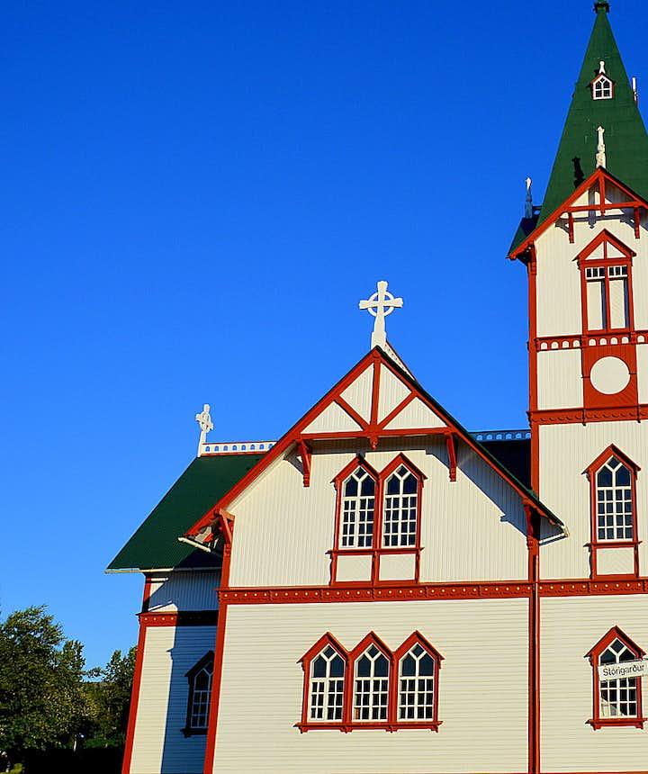 Húsavíkurkirkja church in Húsavík