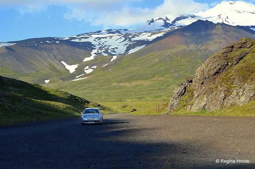Hólahólar craters Snæfellsnes peninsula