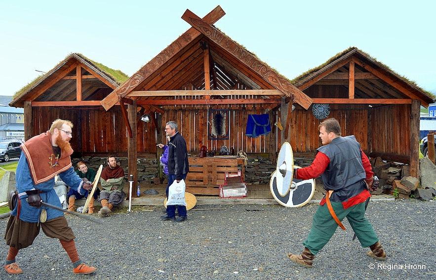 Vikings from the Viking club Glæsir in Grundarfjörður