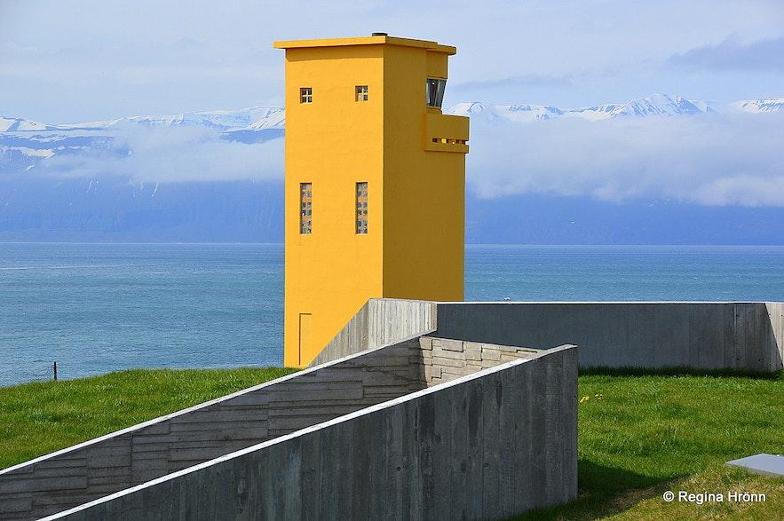 Húsavíkurviti lighthouse on Húsavíkurhöfði cape