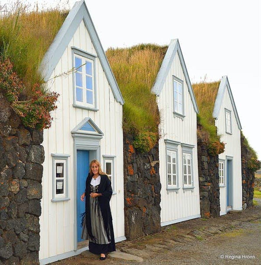 Regína by Grenjaðarstaður turf house in North-Iceland