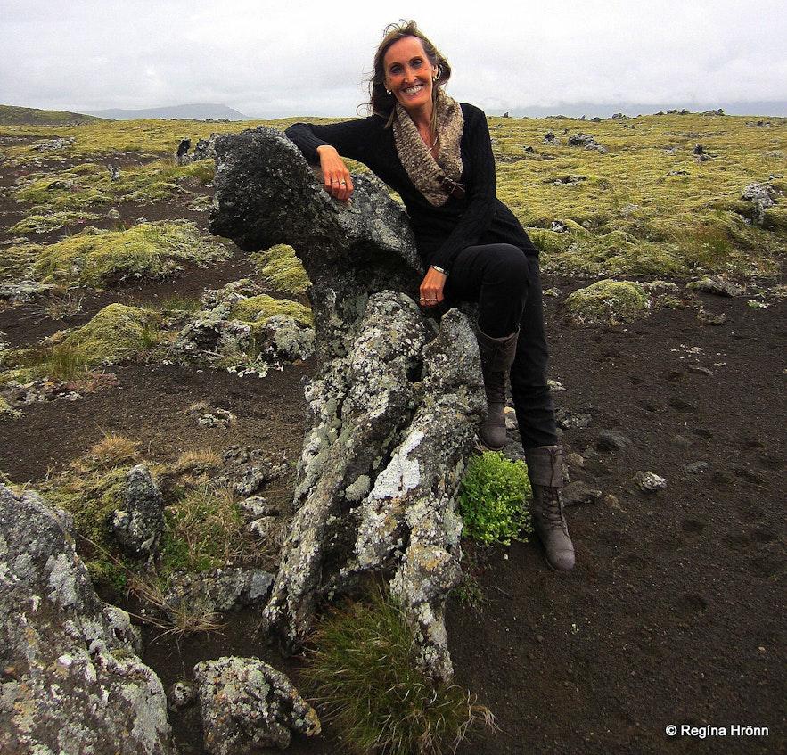 Lava formations on the way to Rauðamelsölkelda