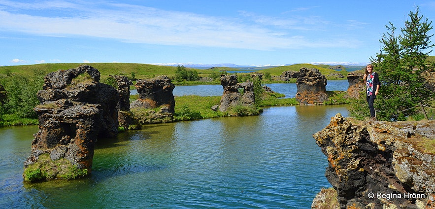 Kálfastrandavogar - Höfði lava pillars at Mývatn