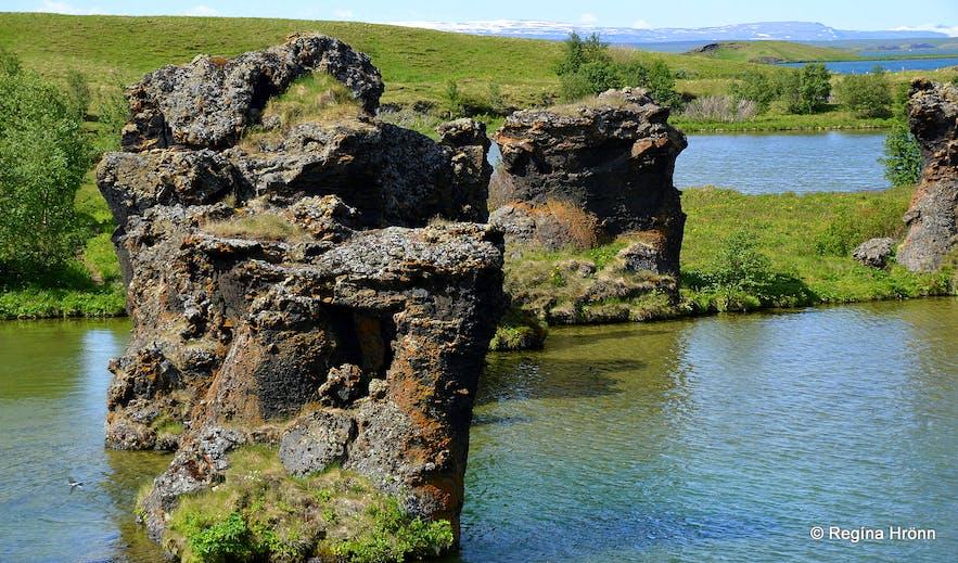 Klasar at Kálfastrandavogar Mývatn
