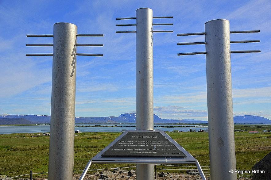 The memorial for Sigurgeir Stefánsson, Böðvar Björgvinsson and Jón Kjartansson